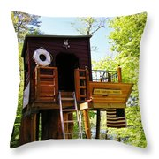 Tree House Boat 2 Throw Pillow