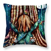 Tree Hugs Throw Pillow