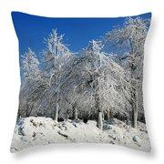 Tree Ice Throw Pillow
