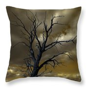 Tree In A Storm Throw Pillow