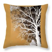 Tree In Abstract Throw Pillow