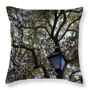 Tree In French Quarter Throw Pillow