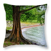 Tree In Paradise Throw Pillow
