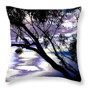 Tree In Silhouette Throw Pillow