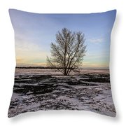 Tree In The Field Throw Pillow