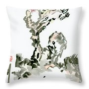 Tree In The Wind Throw Pillow