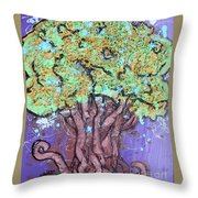 Tree In Three Dee Throw Pillow