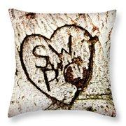 Tree Initials Throw Pillow