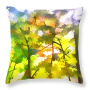 Tree Leaves Throw Pillow