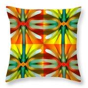 Tree Light Square Pattern Throw Pillow