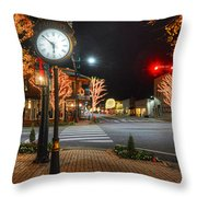 Tree Lights In Fairhope Throw Pillow