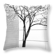Tree Lines Throw Pillow by Darryl Dalton