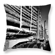 Tree Logger Throw Pillow