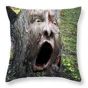 Tree Man Throw Pillow