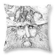 Tree Man Throw Pillow