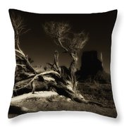 Tree Monument Valley Throw Pillow
