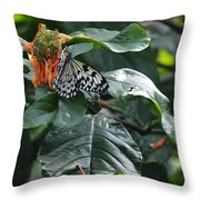 Tree Nymph On Blossom Throw Pillow