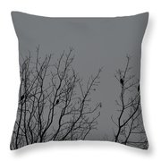 Tree Of Birds Throw Pillow