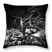 Tree Of Darkness Throw Pillow