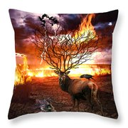 Tree Of Death Throw Pillow
