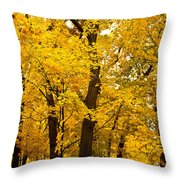 Tree Of Gold Throw Pillow