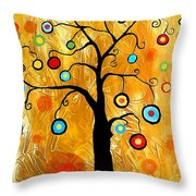 Tree Of Happiness 647 - Marucii Throw Pillow