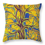 Tree Of Happiness Throw Pillow