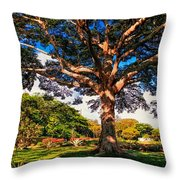 Tree Of Joy. Mauritius Throw Pillow