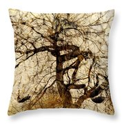 Tree Of Life  Throw Pillow by Ann Powell
