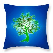 Tree Of Life Throw Pillow by Cheryl Young