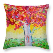 Tree Of Life In Spring Throw Pillow by Ana Maria Edulescu