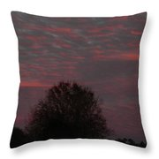 Tree Of Life Under A Colorful Sky Throw Pillow
