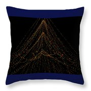 Tree Of Lights Throw Pillow by Christi Kraft