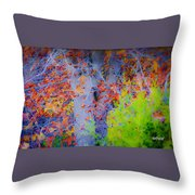 Tree Of Many Colors Throw Pillow