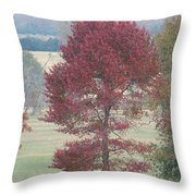 Tree Of Red Throw Pillow