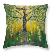 Tree Of Reflection Throw Pillow