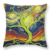 Tree Of Starlight Throw Pillow
