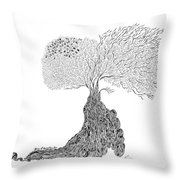 Tree Of Uncertainty Throw Pillow