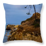 Tree On A Cliff II Throw Pillow