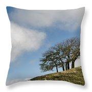 Tree On Hillside Throw Pillow
