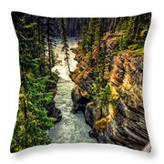 Tree On The Edge Of A Cliff Throw Pillow