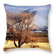 Tree On The Farm Throw Pillow