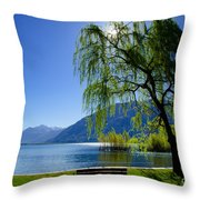 Tree On The Lakefront Throw Pillow
