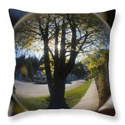Tree On The Street Throw Pillow