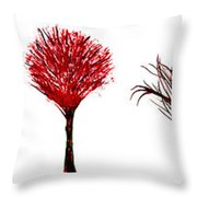 Tree Paintings In Wax Throw Pillow