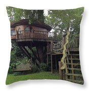 Tree Penthouse Throw Pillow