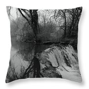 Tree Planted By The Rivers Throw Pillow