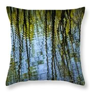 Tree Reflections On A Pond In West Michigan Throw Pillow