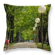 Tree Ride Throw Pillow