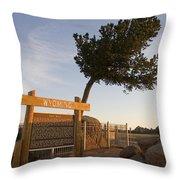 Tree Rock Wyoming Throw Pillow